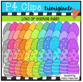 Lots & Lots of Easter Eggs {P4 Clips Trioriginals Digital Clip Art}
