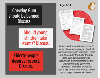 Lots Of Discursive Essays To Write: Pack 2 (9-14 years)