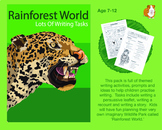 Lots Of Writing Tasks About A Wildlife Park Called Rainforest World (7-11 years)