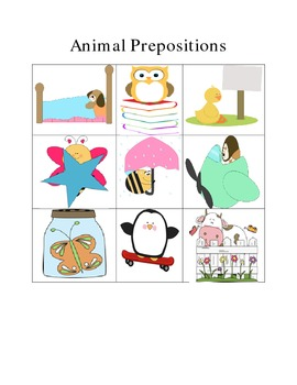Lots of Animal Prepositions