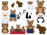 Lots of Bears Clip Art