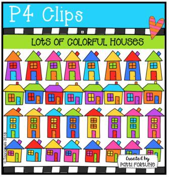 Lots of Color Houses (P4 Clips Trioriginals)