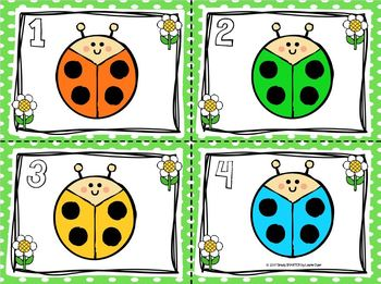 Lots of Colorful Ladybugs:  LOW PREP Bug Themed Color Word Write the Room