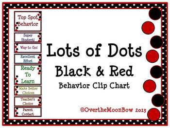 Lots of Dots ~ Black & Red Behavior Clip Chart