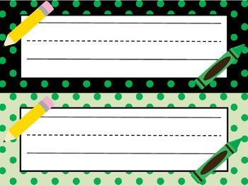 'Lots of Dots' Desk Name Plates  **FREEBIE**  Back To School