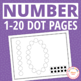 Number Activity: 0-20 Number Dot Worksheets