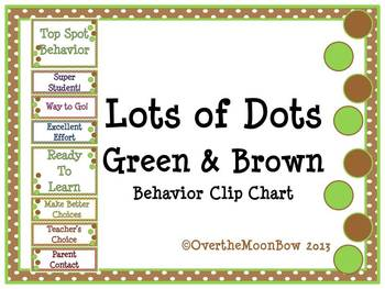 Lots of Dots ~ Spring Green & Brown Behavior Clip Chart