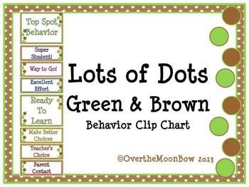 Lots of Dots ~ Spring Green & Brown Behavior Clip Chart