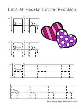 Lots of Hearts PreK Printable Pack Sampler