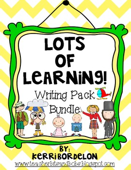 Lots of Learning! Writing Centers Bundle