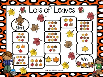 Lots of Leaves:  NO PREP Autumn Themed Counting Game