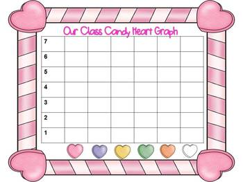 Candy Heart Graph for Kindergarten and First Grade