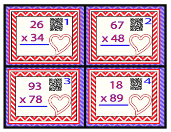 Lots of Love Multiplication TEKS 4.4