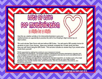 Lots of Love Multiplication TEKS 4.4