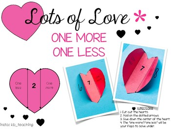 Lots of Love: One More/One Less Hearts!