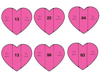 Lots of Love~ TEN More/ TEN Less Hearts Activity!