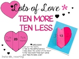 Lots of Love~ TEN More/ TEN Less Hearts Activity!