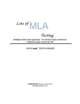 Lots of MLA Testing