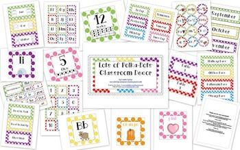 Lots of Polka-Dot Classroom Decor