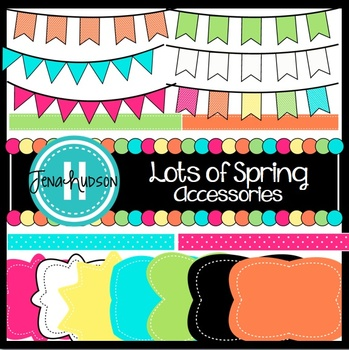 Lots Of Spring Accessories Frames Pennant Banners And More