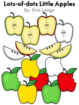 Lots-of-dots- Little Apples- Clip Art