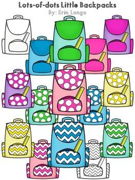 Lots-of-dots- Little Backpacks- FREEBIE Clip Art