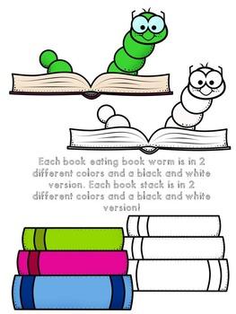 Lots-of-dots- Little Book Worms- FREEBIE Clip Art