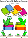 Lots-of-dots- Little Book Worms- FREEBIE Clip Art