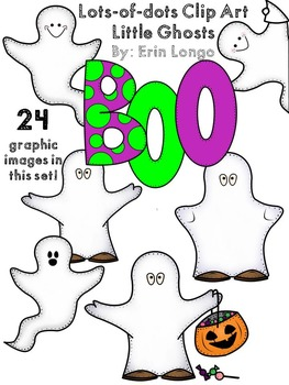 Lots-of-dots- Little Ghosts- Clip Art