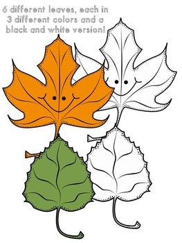 Lots-of-dots- Little Leaves- Clip Art