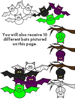 Lots-of-dots- Little Little Cats, Bats and Spiders- Clip Art