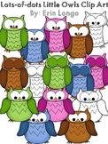 Lots-of-dots- Little Owls- Clip Art
