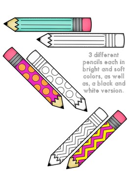 Lots-of-dots- Little Pencils- FREEBIE Clip Art