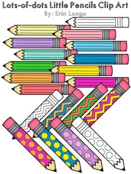 Lots-of-dots- Little Pencils- FREEBIE Clip Art