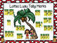 Lotsa Luau Tally Marks:  NO PREP Summer Themed Roll and Cover Game