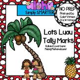 Lotsa Luau Tally Marks:  NO PREP Summer Themed Roll and Co
