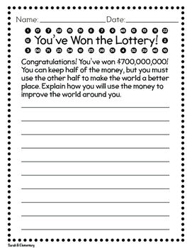 Lottery Writing Prompt