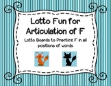 Lotto Fun for Articulation of F