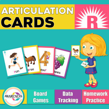 Articulation Cards /r/ sound & blends: Games for speech therapy