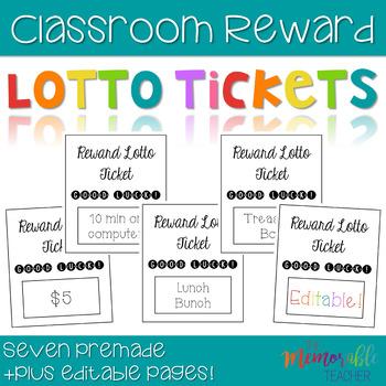 Lotto Ticket Classroom Rewards