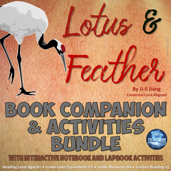 Lotus & Feather Book Companion and Reading Activities Bundle