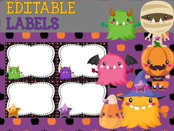 Lotus Labels: Editable Labels and Name Plates - Halloween Fun