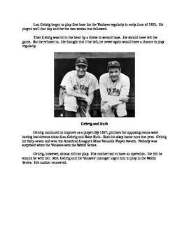 Lou Gehrig - A Short Biography for Kids