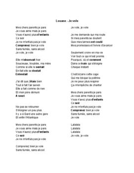 French Music - Louane - Je vole (Pratique de l'imparfait)