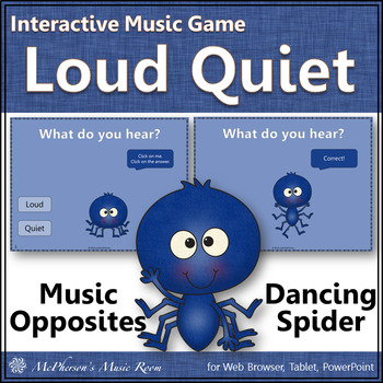 Loud and Quiet Dancing Spider {Interactive Music Game}