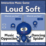 Dynamics Loud Soft ~ Music Opposite Interactive Music Game {Spider}