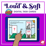 Loud and Soft Identification - BOOM Cards - Web Based Dist