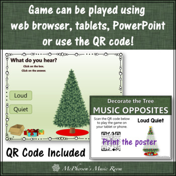 Loud or Quiet Interactive Music Game {Decorate the Christmas Tree}
