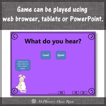 Spring Music Game: Dynamics Loud Quiet Interactive Music Game {rabbit}