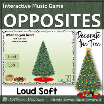 Loud or Soft Interactive Music Game {Decorate the Christmas Tree}
